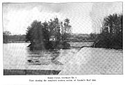 The newly finished western dam in 1907.