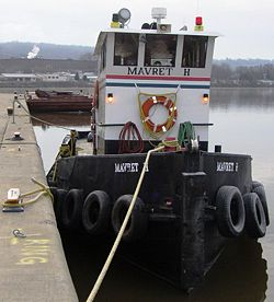 The Mavret H at Waterford.  One of the many tugboats found along the canal and Waterford's Tugboat Roundup.