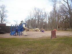 One of the many playgrounds at Verona Beach State Park.