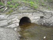 Putman's Culvert during lower water.