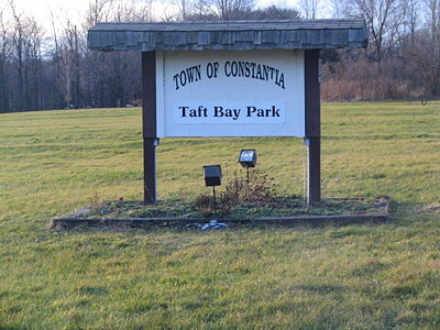 The sign next to route 49 welcomes visitors into the park