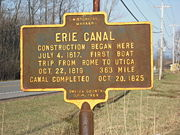 The first shovel was turned at the west end of Erie Canal Village on July 4th, 1817.