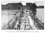 Construction of the Crocker's Reef Dam on the Hudson River (1907).