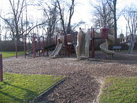 The children's playground at Chapman Park.
