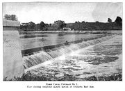 The newly finished eastern dam in 1907.