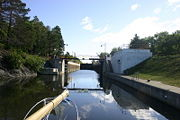 Entering Lock C4 from the south on the Champlain Canal.