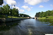 Champlain Canal Lock C4 just north of Mechanicville.