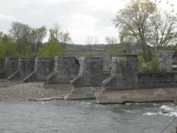 The remains of the Schoharie Aqueduct.