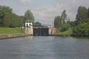 The view when entering the lock from the East.