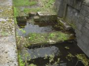 Stones which formed the lower sill of one of the lock gates.