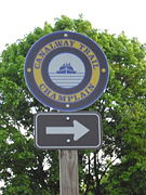 The signs lead the way along the Champlain Canalway Trail