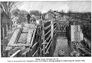 Forms and half completed walls on the Junction Lock (1907).